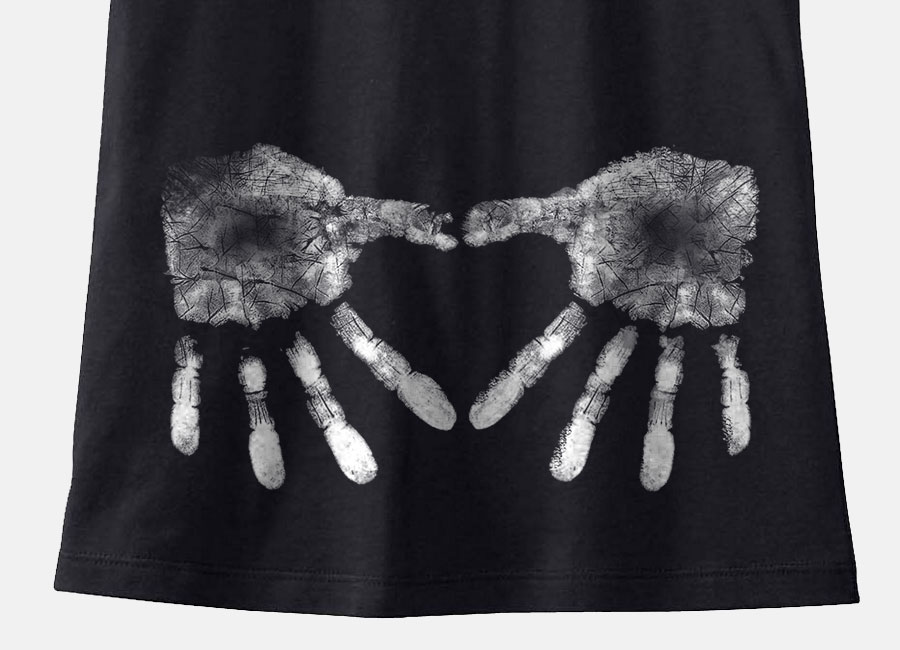 Chalk Heart Handprint - CrossFit Maternity Shirt