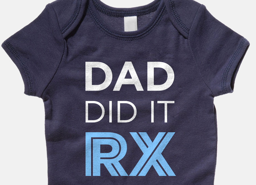 Dad Did It RX - CrossFit Onesie