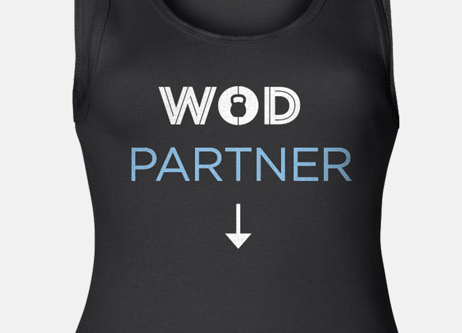 WOD Workout Partner - CrossFit Maternity Tank Top